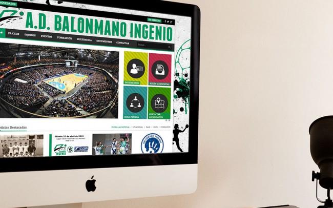 Diseño Web - Joomla - Asociación Deportiva Balonmano Ingenio