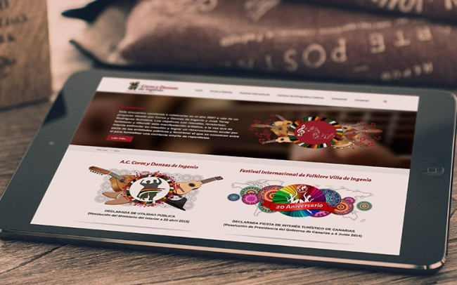 Diseño Web - Joomla - Versión responsive tablet (iPad) - Coros y Danzas de Ingenio