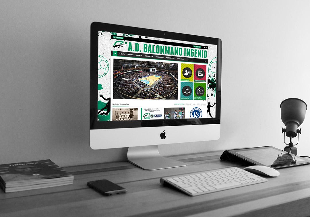 Diseño Web Responsive - Asociación Deportiva Balonmano Ingenio