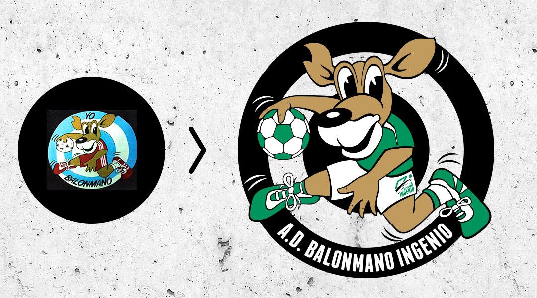 Vectorización de Ilustración de Mascota - Club Balonmano Ingenio