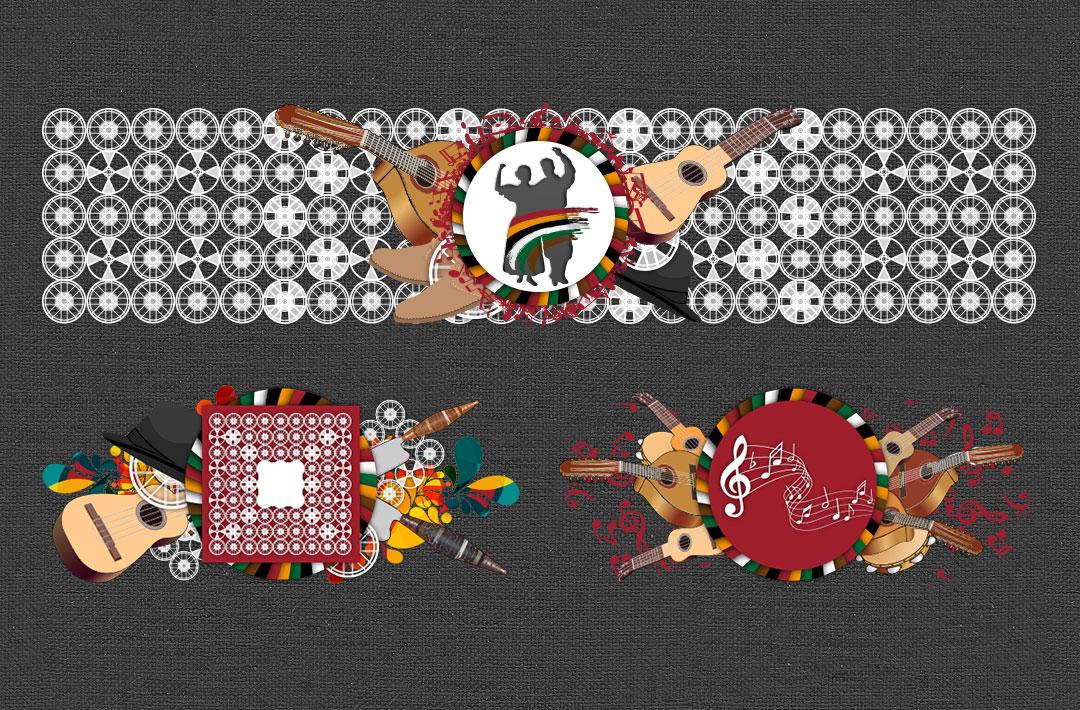 Ilustraciones para Cabeceras de Secciones - Web Coros y Danzas de Ingenio