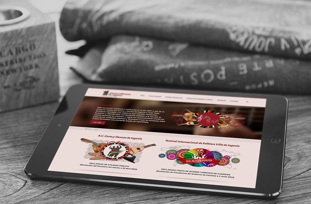 Diseño Web Responsive - Coros y Danzas de Ingenio