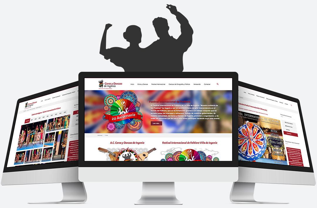 Screenshots - Diseño Web - Joomla - Coros y Danzas de Ingenio