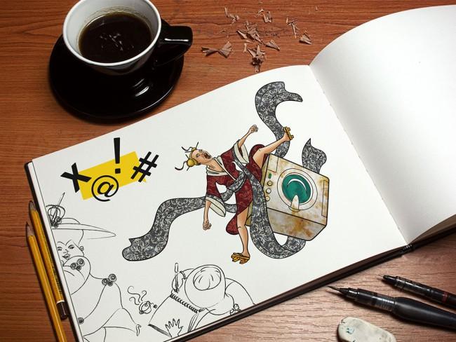 Ilustración y Diseño Editorial - Nerviótica - Natalia Mikhaylov