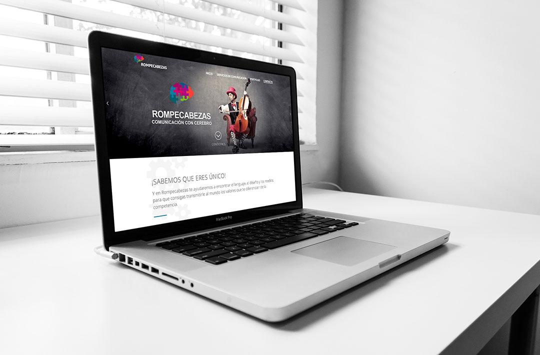 Diseño Web - Wordpress - Rompecabezas - Pagina de Inicio