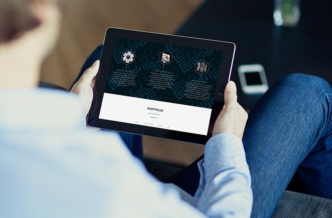 Diseño Web Responsive - Rompecabezas - Vista tablet (iPad)