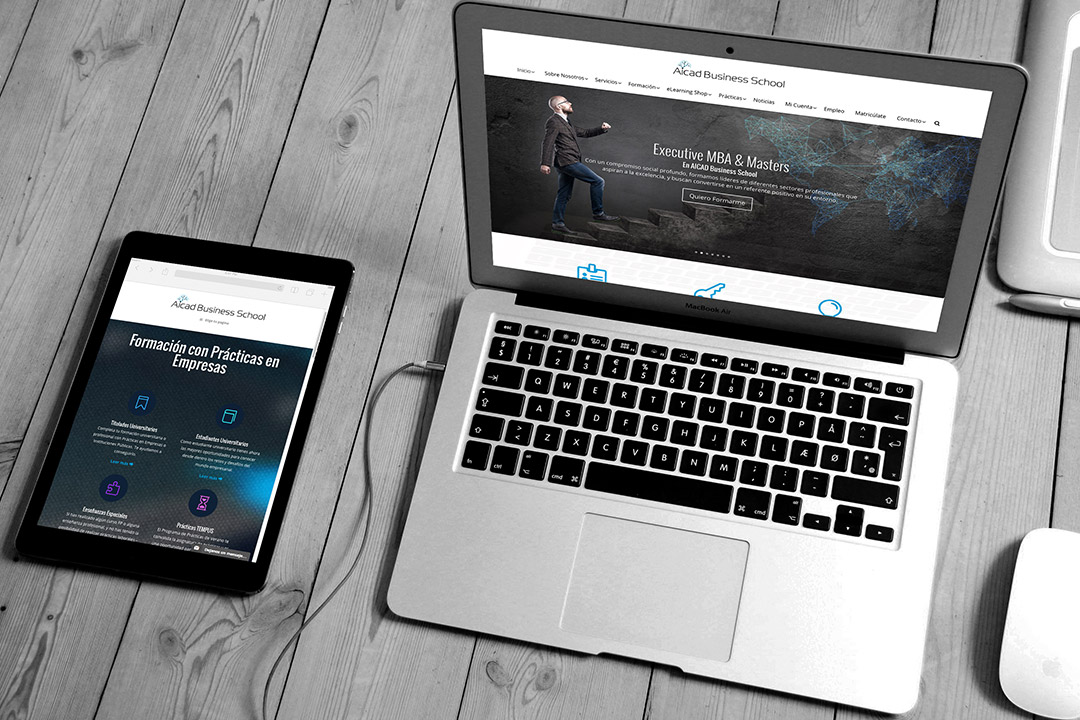Diseño Web Responsive - Wordpress - Aicad Business School