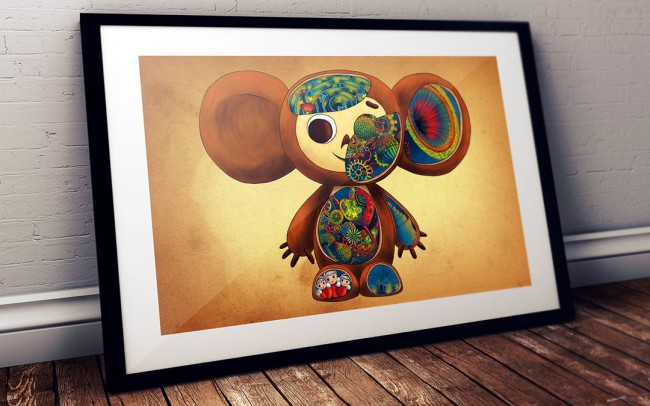 Ilustración Cheburashka - Un Viaje a la Infancia - Natalia Mikhaylov