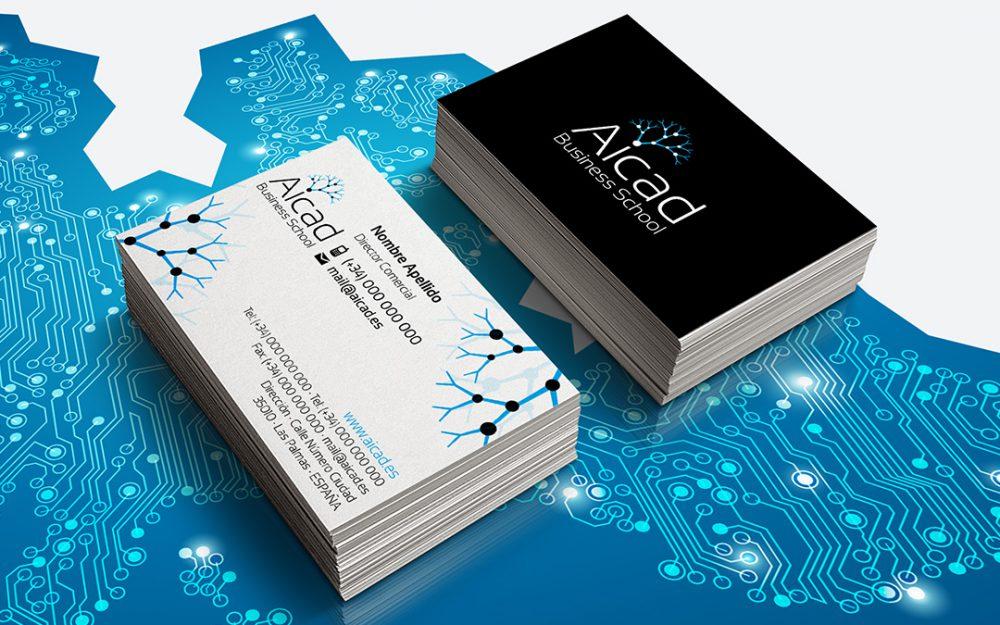 Identidad Corporativa - Aicad Business School - Natalia Mikhaylov (tarjetas)