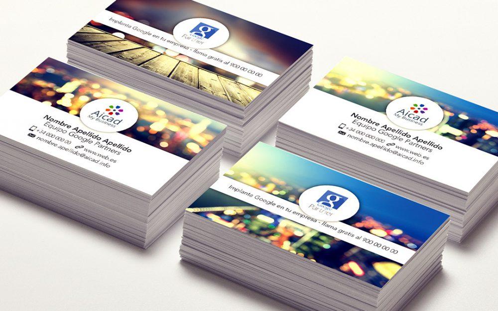 Diseño de Logo - Aicad My Business - Natalia Mikhaylov (tarjetas)